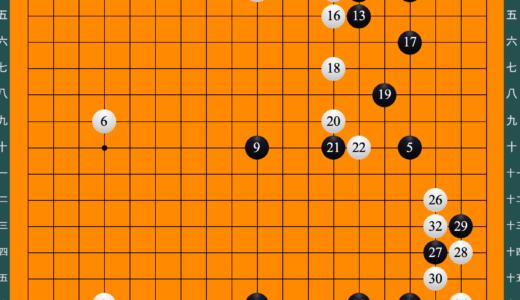 囲碁有段者の棋譜①