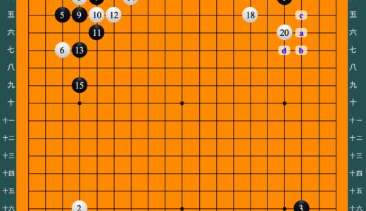 2019年5月14日 第10回おかげ杯第1局 余正麒七段vs上野愛咲美初段